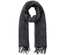 Schal Leopard Strick grau / schwarz