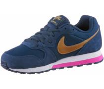 'MD Runner 2' Sneaker dunkelblau / gold / pink