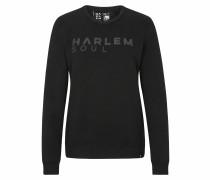 Sweatshirt 'Lon-Don' schwarz