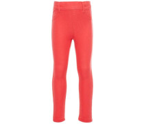 Super dehnbahre Twill Leggings rot