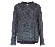 Bluse mit Allover-Print grün