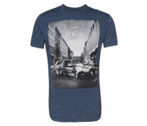 T-Shirt 'Greetings' navy