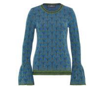 Jacquard-Pullover mit Lurex