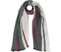 Schal oliv / rot / weiß
