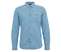 Hemd 'Ray printed chambray shirt' himmelblau