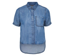 Kurzärmeliges Jeanshemd blau