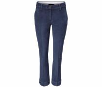Flared-Hose aus Cord blue denim