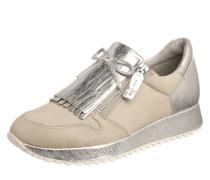 Sneaker mit Haferlasche creme / silber