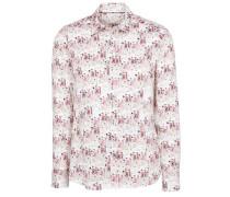 Langarm Bluse für grosse Frauen mischfarben / rot / weiß