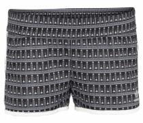 Hotpants mit Alloverprint schwarz