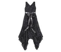 Festliches Kleid mit Satinband silbergrau / schwarz