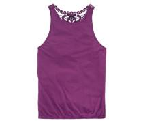 Top mit Häkeleinsatz im Rücken für Mädchen lila