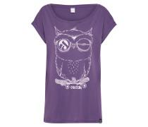 T-Shirt 'Skateowl 2' aubergine