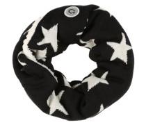 Schlauchschal mit Sternen schwarz / offwhite