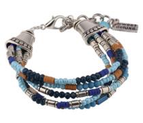 Armband 'Eimen' blau / braun / silber