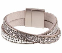 Armband 'Pia C02630040' beige / silber