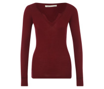 Basic mit Split-Neck 'Lisbon' beere