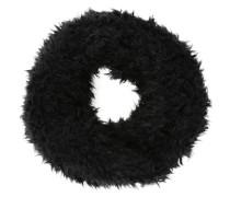 Loop aus Kunstfell schwarz