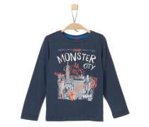 Longsleeve mit Monster-Print dunkelblau