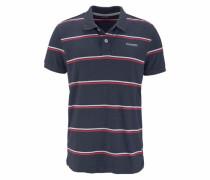 Poloshirt blaumeliert / rot / weiß