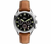 Chronograph 'so-3180-Lc' beige / braun / mischfarben / schwarz / silber