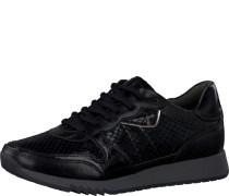 Sneaker im Materialmix schwarz