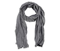 Leichter Crinkle-Schal graumeliert