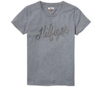 T-Shirt »Thdw CN Embroidered T-Shirt S/S 28« grau