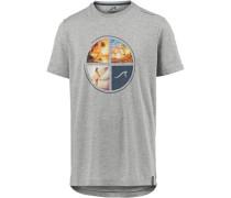 Printshirt hellgrau