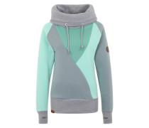 Sweatshirt 'Düün' grau / grün
