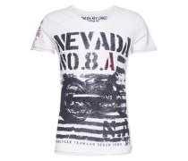 T-Shirt 'MT Nevada round' schwarz / weiß