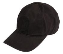 Cap mit Label-Stickerei schwarz