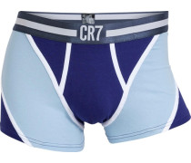 Boxer CR7 Fashion Trunk hellblau / dunkelblau / weiß