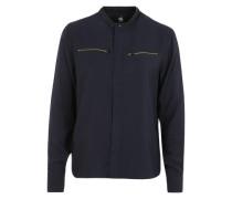 Bluse mit Reißverschlusstaschen 'Road' nachtblau