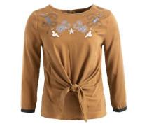 Shirt 'caima' rauchblau / senf / weiß