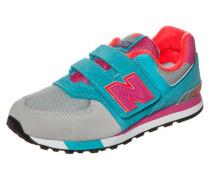 Sneaker '574' türkis / grau / pink