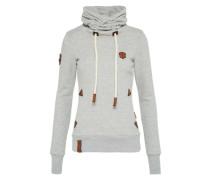 Sweatshirt 'mit Stil65' graumeliert