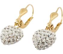 Ohrhänger mit Kristallen »Herz« gold