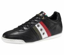 Sneaker 'Imola Romagna Low' khaki / rot / schwarz / weiß
