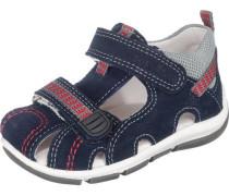 Kinder Sandalen WMS-Weite M4 nachtblau / dunkelrot