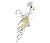 Charm 'Parrot' gelb / silber