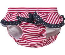 Baby Schwimmwindel für Mädchen rot / weiß