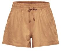 Einfarbige Shorts braun