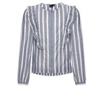 Hemd nitosille gestreiftes Volant- blau / weiß