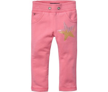 TOMMY HILFIGER Sweathosen »HEART MINI JOGGING PANTS« pink