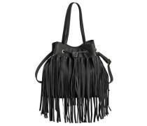 Beutel Tasche mit Fransen schwarz
