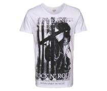 T-Shirt 'Photo print tee S/s' weiß