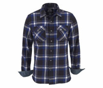 Karohemd 'lumberjack L/S Shirt; blau / dunkelblau / grau / weiß