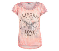 T-Shirt 'California' grau / apricot