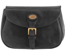Essentials Donna Umhängetasche Leder 23 cm schwarz